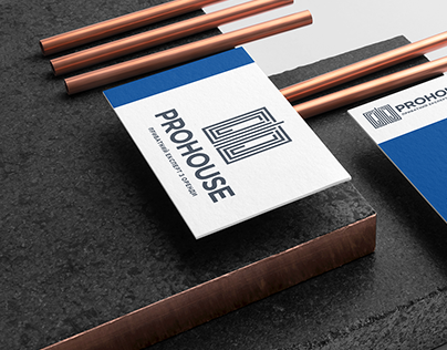 Logo and business card of the company PROHOUSE