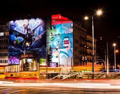 Good Looking Studio x MMC -mural for Santander Bank