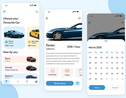 Luxury Car Rental App
