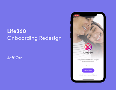 UX/UI Process // Life360 - Onboarding Redesign