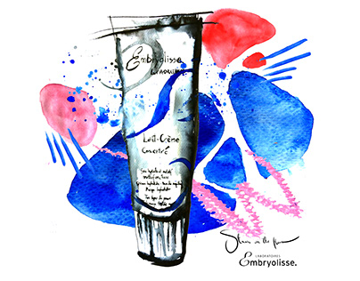 Beauty illustrations for Embryolisse Poland