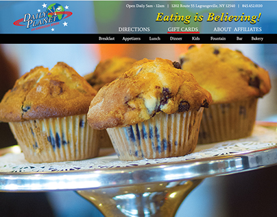 Daily Planet Diner Website Design