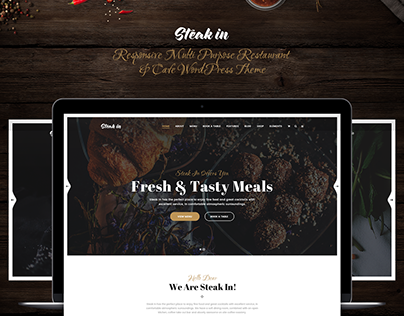 Steak In - Responsive Restaurant & Cafe WordPress Theme