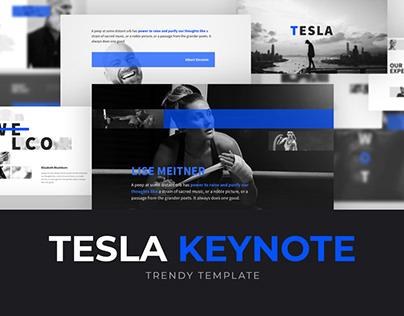 Free Tesla Powerpoint Template