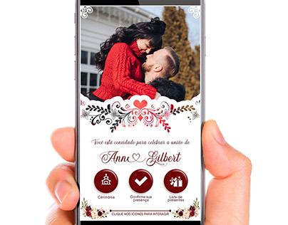 Convites de casamento digitais e interativos