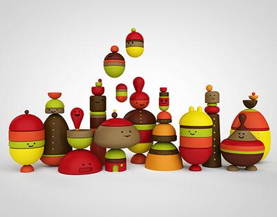 Happy figurines