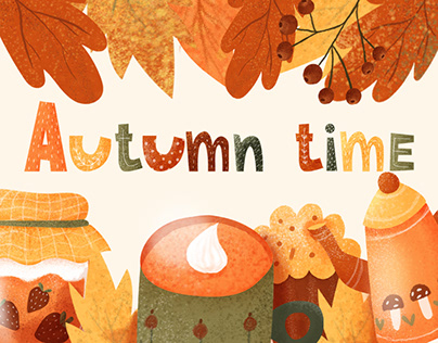 """Coffee shop stickers """"Autumn time """""""