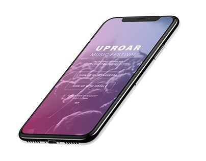 Uproar Music Festival App for iPhone X