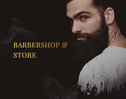 Barbershop & store | Landing Page