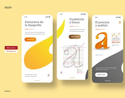 UI Design - Typography App Concept.