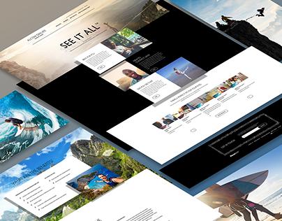 Web site design Alcon Dailies