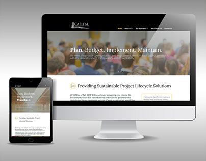 Capital Infrastructure Communications Website Design