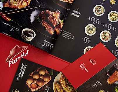 Food menu design for Pizza Hut