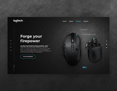 Promo Landing Page for Logitech