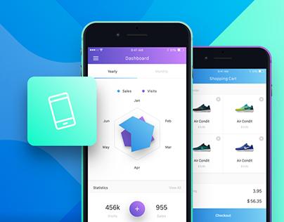 Flok iOS UI Kit + Freebie