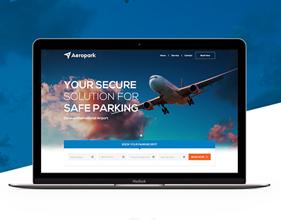 Aeropark - Parking service website.