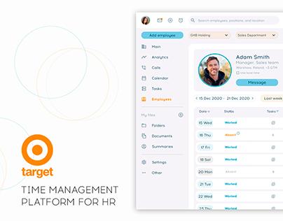 Time management platform for HR