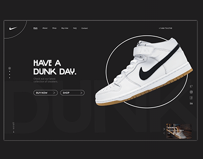 Landing page Nike Dunk Sneakers Shop