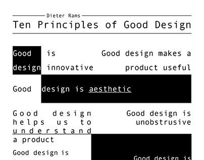10 Principles of Good Design by Dieter Rams
