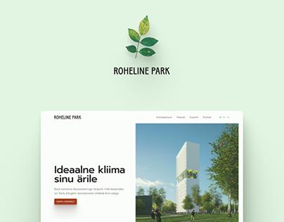 Website design for Green Park