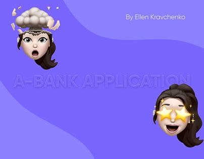 UI/UX project. A-Bank app