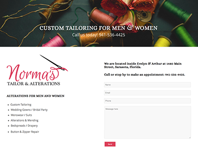 Norma's Tailor & Alterations Website