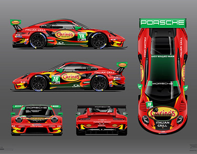 2020 Porsche GT3 Carino's Grill Livery by RPM-3D, Inc.