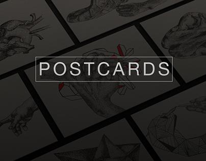Dotwork Postcards