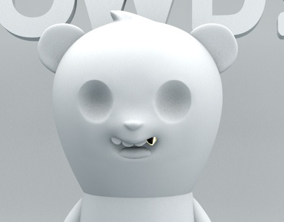 Howdy Bear Toy Design, Sculpt, and Render