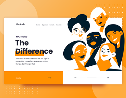 Women rights Landing Page