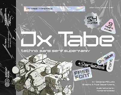 Jx Tabe - Free Font
