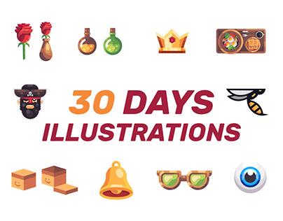 30 Days Illustrations.