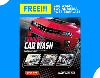 Free Download Car Wash Promotion Instagram Post