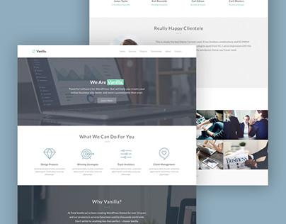 Vanilla Pro Business Web Design
