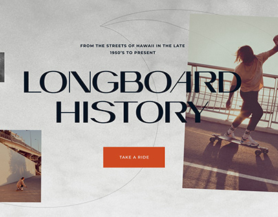 Longboard history promo web pages