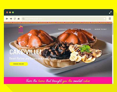 UI/UX for Cakeville Kenya