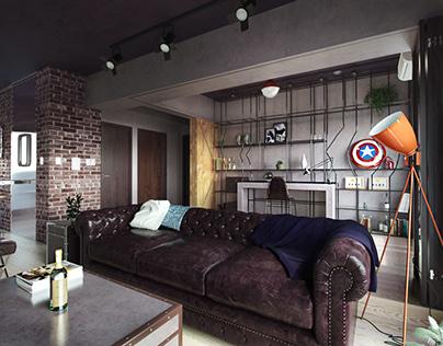 CGI - interior. Fabulous Marvel Heroes Themed House