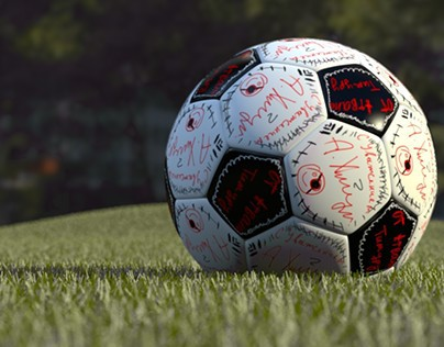 3D Football ball just for fun