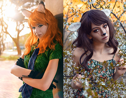 Zootopia and Bambi cosplay photoshoots