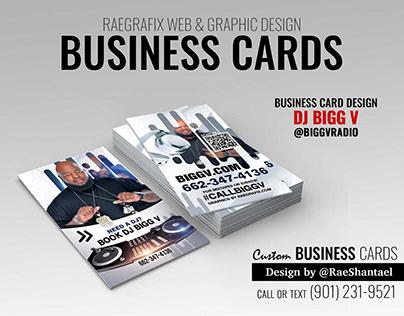 Business Cards - DJ Bigg V