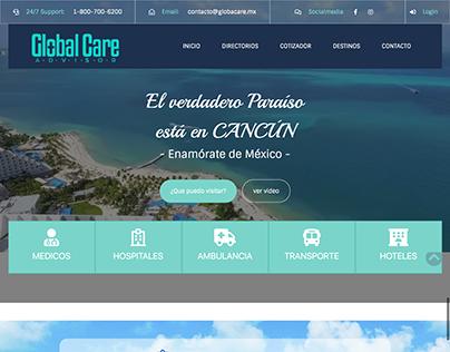 Diseño de sitio web para Plataforma de turismo medico.