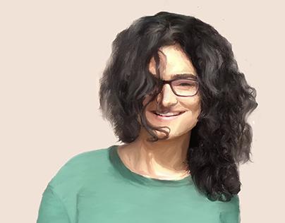 Digital Portrait Painting | An Indian Portrait Series