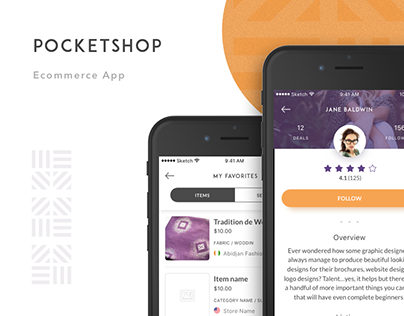 Pocketshop – Ecommerce App
