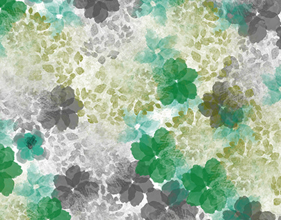floral illustration pattern with mokeups