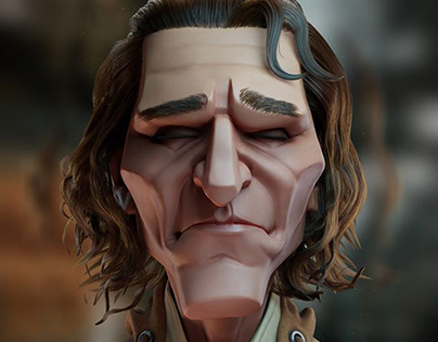 3d Model Caricature Joker