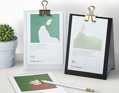 """2020 Calendar """"Sadness"""""""