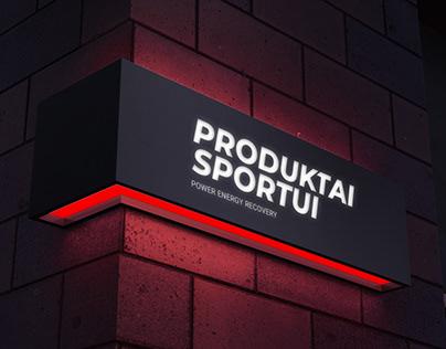 """""""Produktai sportui"""" logotipas"""