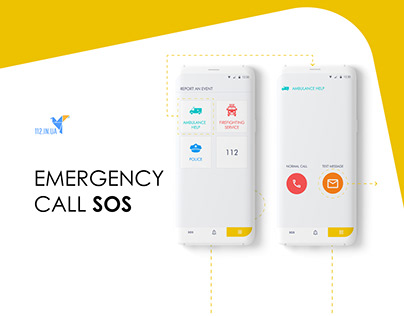 "UX\UI for emergency call app ""112.in.ua"""