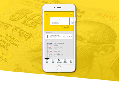 UI Redesign of a Banking App: Vijaya Bank