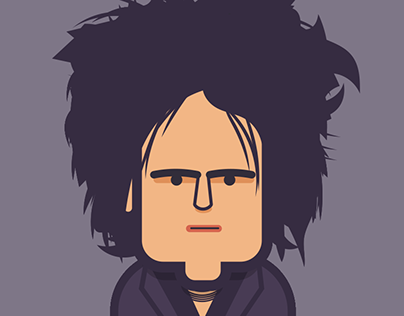 Robert Smith (The Cure) a través de los años